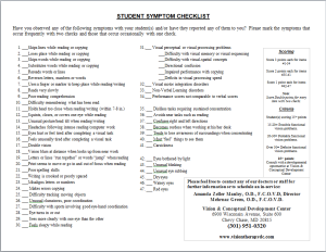 weighted symptom checklist